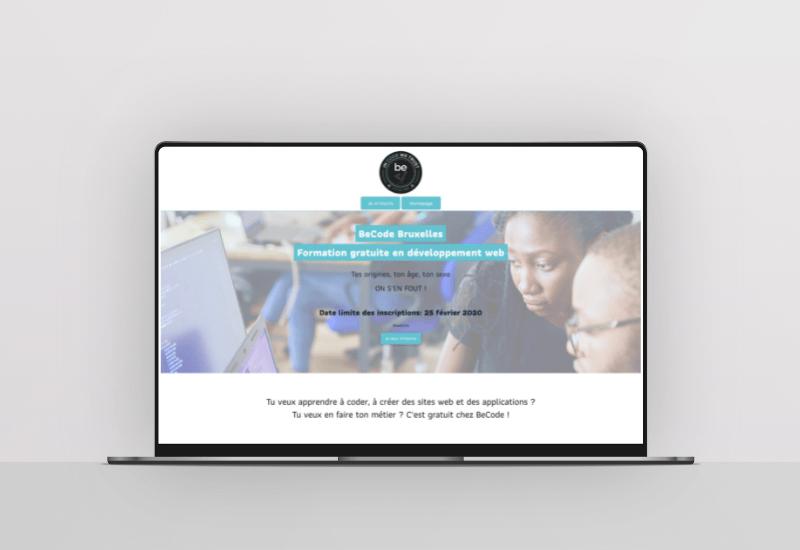 """Featured image for """"Social ondersteuning & landingspagina's voor BeCode"""""""