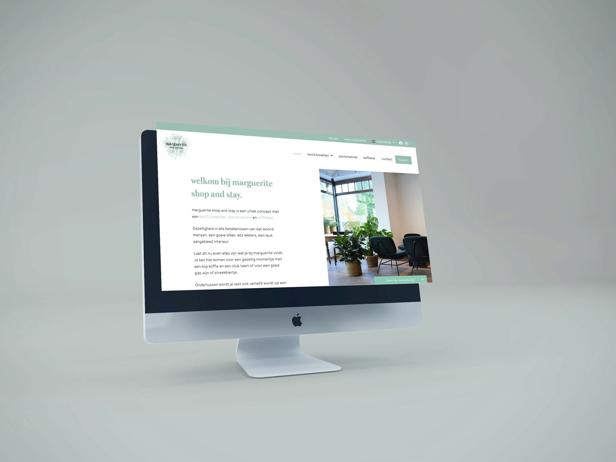 """Featured image for """"Website voor marguerite shop and stay"""""""