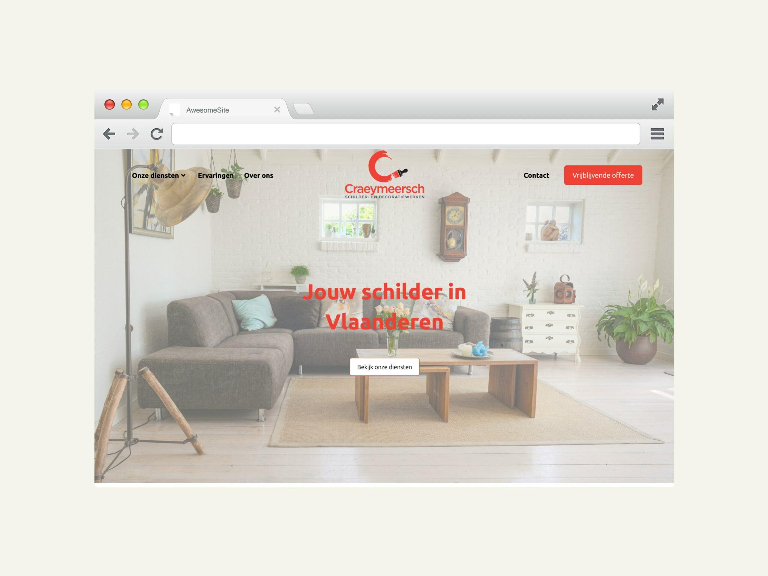 """Featured image for """"Website voor Schilderwerken Craeymeersch"""""""