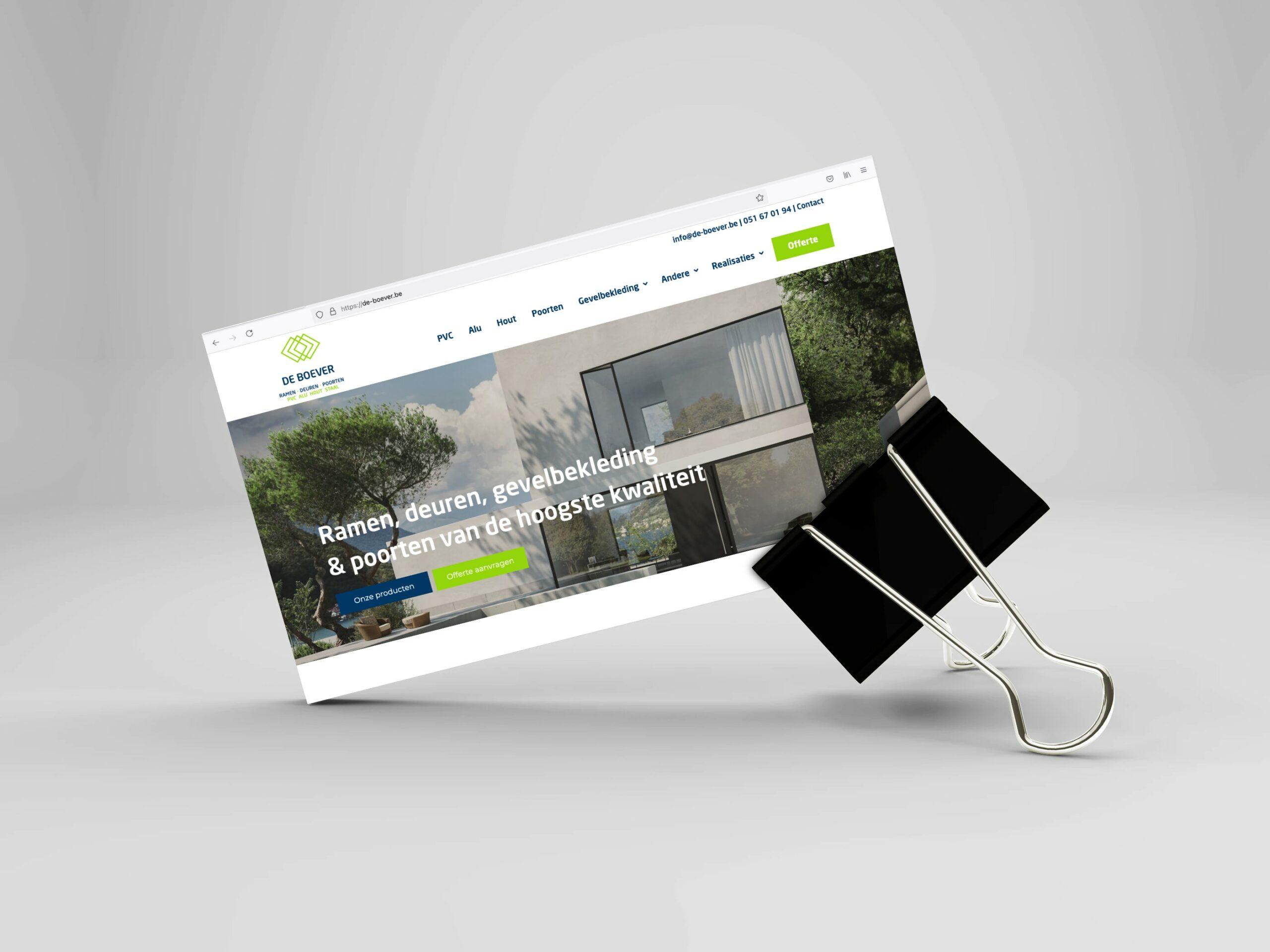 """Featured image for """"Website voor De Boever"""""""
